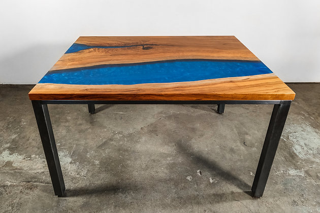 Cherry Epoxy River Dining Table 274