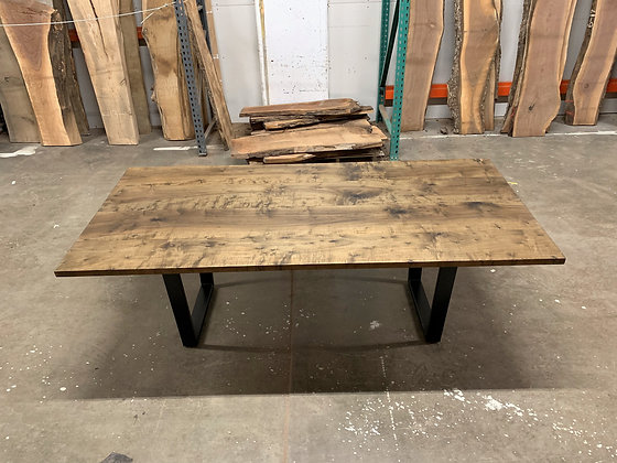 EBONIZED MAPLE DINING TABLE