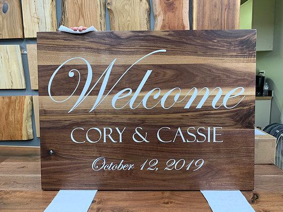 Walnut Wedding Sign 260