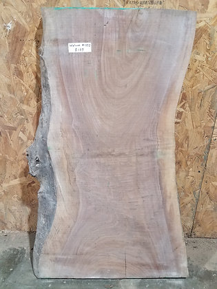 "Black Walnut (1352) 36"" L x 15-22"" W x 2"" T"