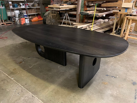 Ash Dining Table with Black Stain 250