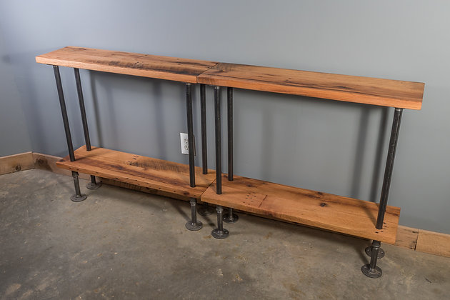 Reclaimed Red Oak Console Table 243
