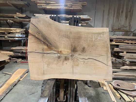 """Pin Oak (1430) 65"""" L x 42-49"""" W x 2.75"""" T"""