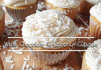 White-Chocolate & Coconut Cupcake