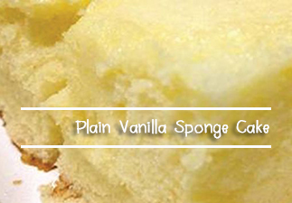Plain Vanilla Sponge Cake