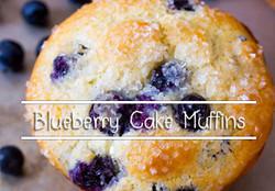 Blueberry Cake Muffins