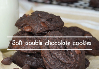 Soft-double-chocolate-cookies