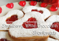 Strawberry White Chocolate Shortbreads
