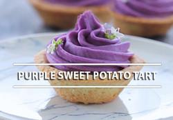 Purple sweet potato tart