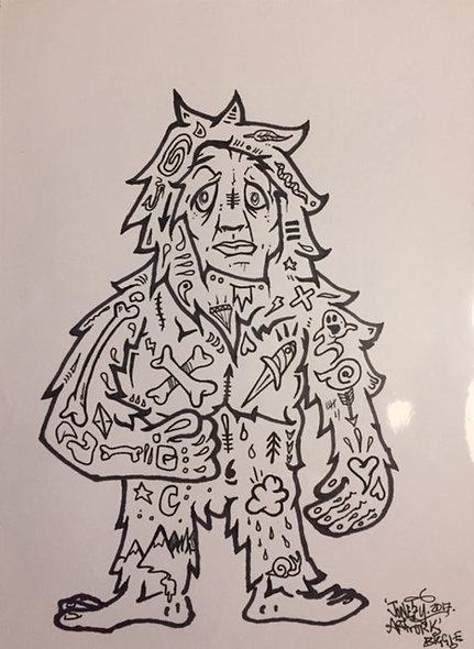 Original Pen and Ink Sketch