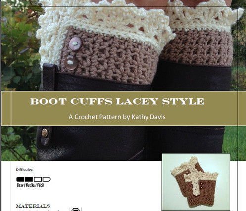 Lace Boot Cuffs Digital Pdf Crochet Pattern