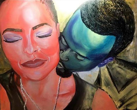 Lashun and Franklin, 2018 Oil on canvas