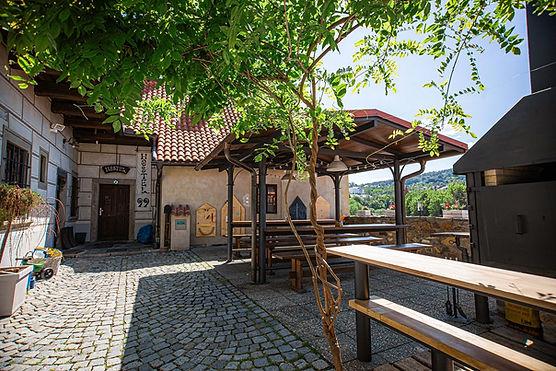 terasa restaurace 99 Český Krumlov