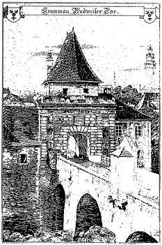 Latrán č.p. 104 - Budějovická brána, Rud