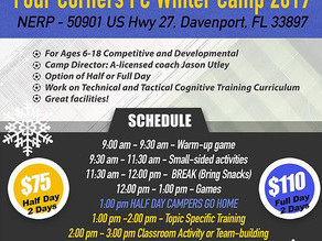 FCFC Winter Soccer Camp