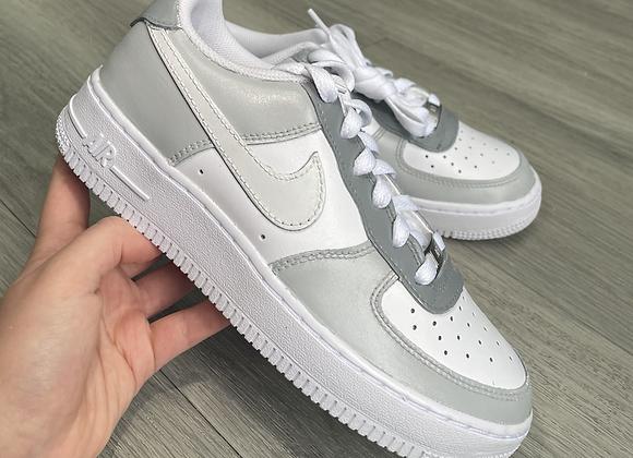 Custom Grey Colour Block Nike Air Force 1's