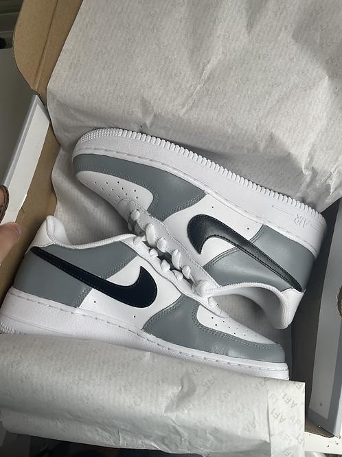 Custom Black and Grey Nike Air Force 1