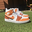 Thumbnail: Custom Orange Fusion Nike Jordan 1 Mid's