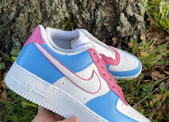 Custom Candy Floss Nike Air Force 1's