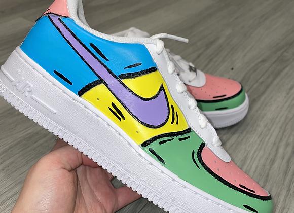 Custom Rainbow Cartoon Nike Air Force 1's