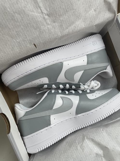 Custom Grey Gradient Nike Air Force 1
