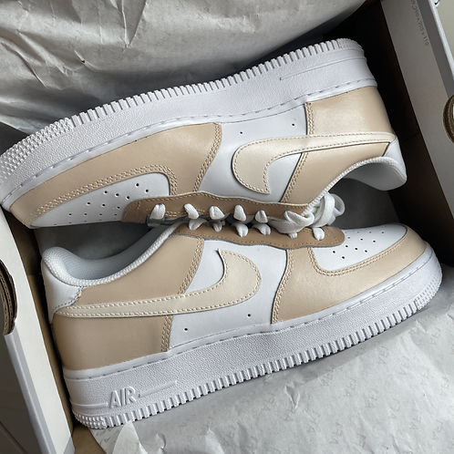 Custom Tan Nike Air Force 1