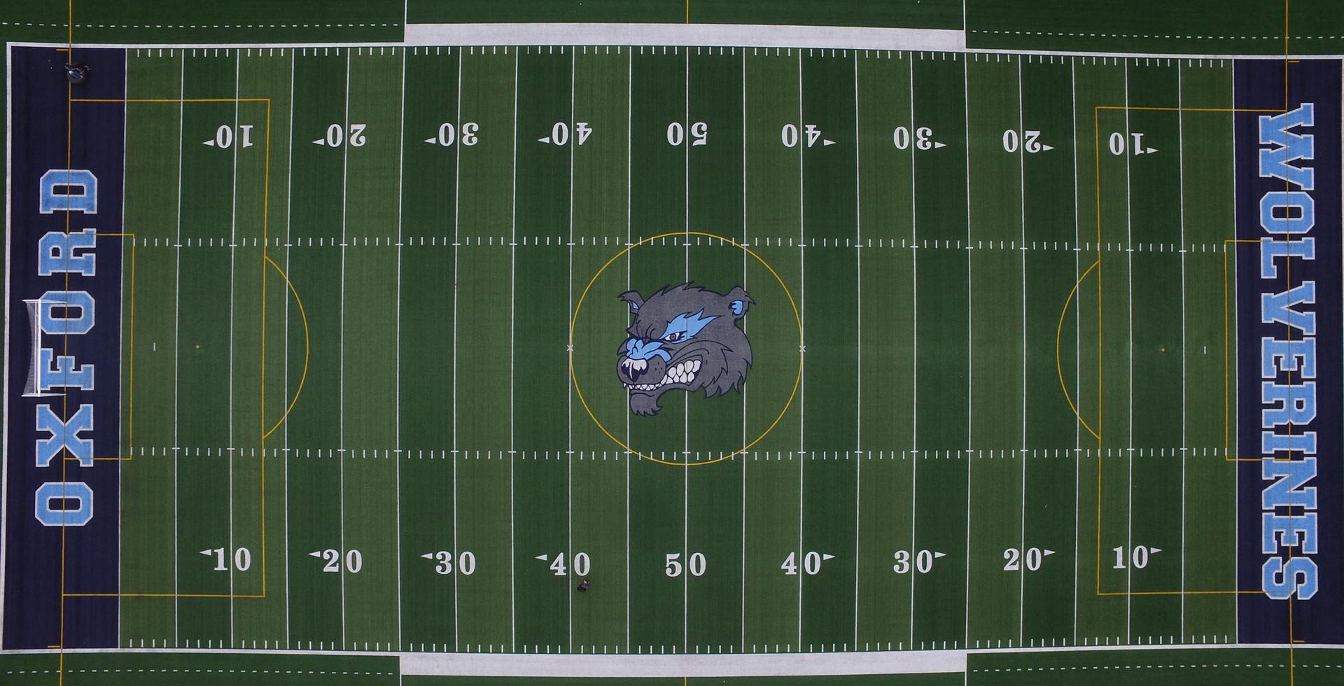 Oxford High School Drone Shot