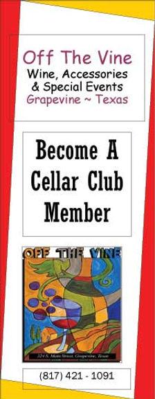 Cellar Club membership information flyer