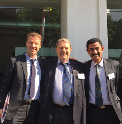 Richard Schenz, Austrian Chamber vice president and Dr Ali Alkatiri, Indonesia
