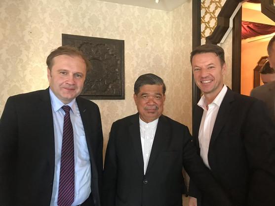 Amer Bukvic- CEO Bosna Bank International & Matt Sabu, ex- Minister of Defense Malaysia