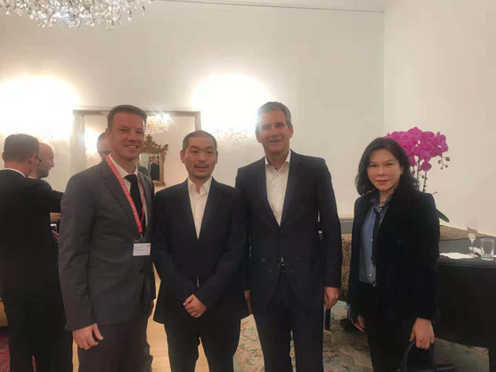 Austrian ex Minister of Finance Loeger and CITIC Director Luo