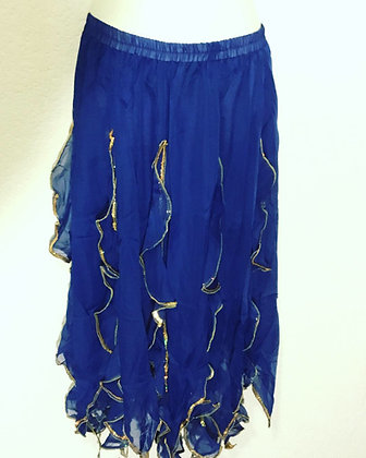 Falda escarolas mod. Junior Azul
