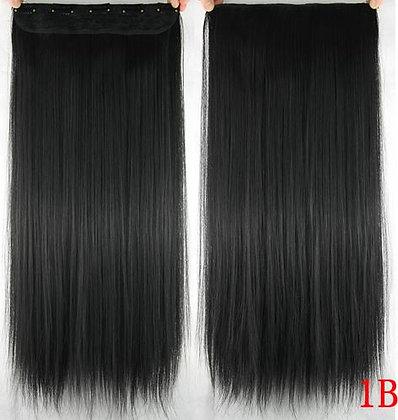 """Extensión de cabello 22"""" Negro 1B"""