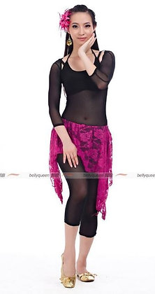 Traje 4 pz: torerita +blusa+ leggins+ falda
