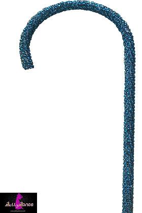 Bastón de piedras turquesa