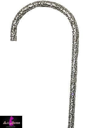Bastón con piedras plata