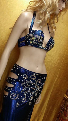 Traje Egipcio Profesional Azul metálico midnight