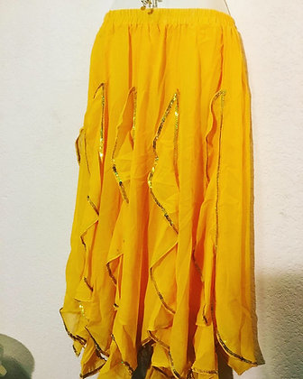 Falda escarolas mod. Junior Amarillo