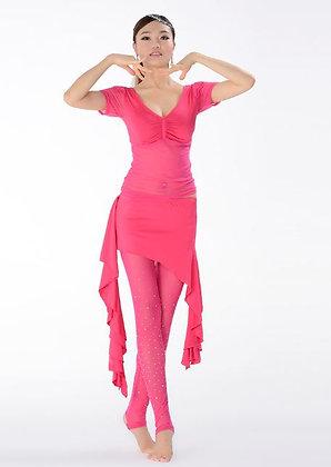 Traje de 3 pz: blusa + leggins+ falda