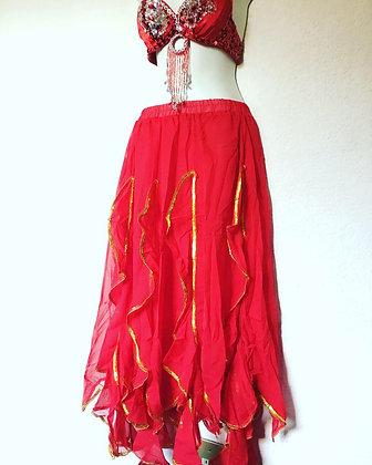 Falda escarolas mod. Junior Roja