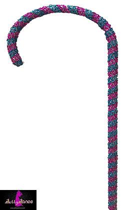Bastón pirulí rosa con azul