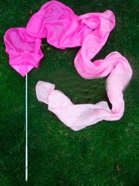 Listón de Seda Modelo Rosa Degradado 2.5x30 cm
