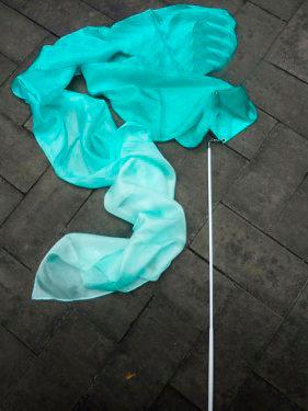 Listón de Seda Modelo Verde Aqua 2.5x30 cm