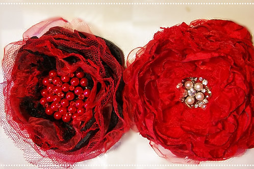 Handmade lace and fabric flower