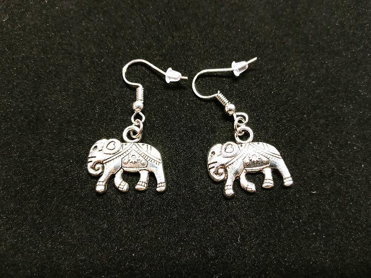 Decorative elephant earrings