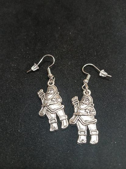 Waiving Santa earrings
