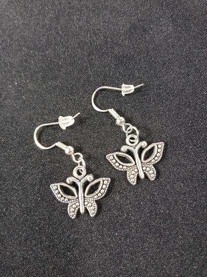 Aztec butterfly earrings