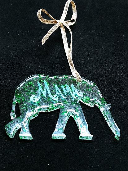 Mama elephant ornament