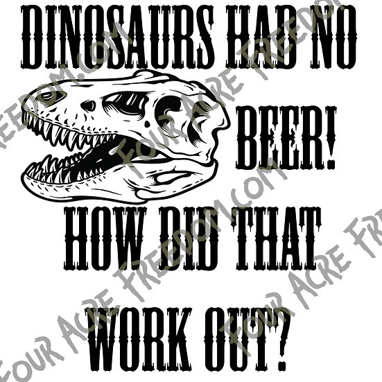 Dino Beer Decal