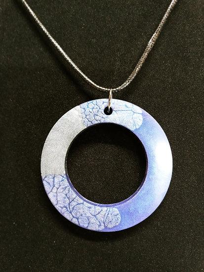 Circle purple epoxy necklace